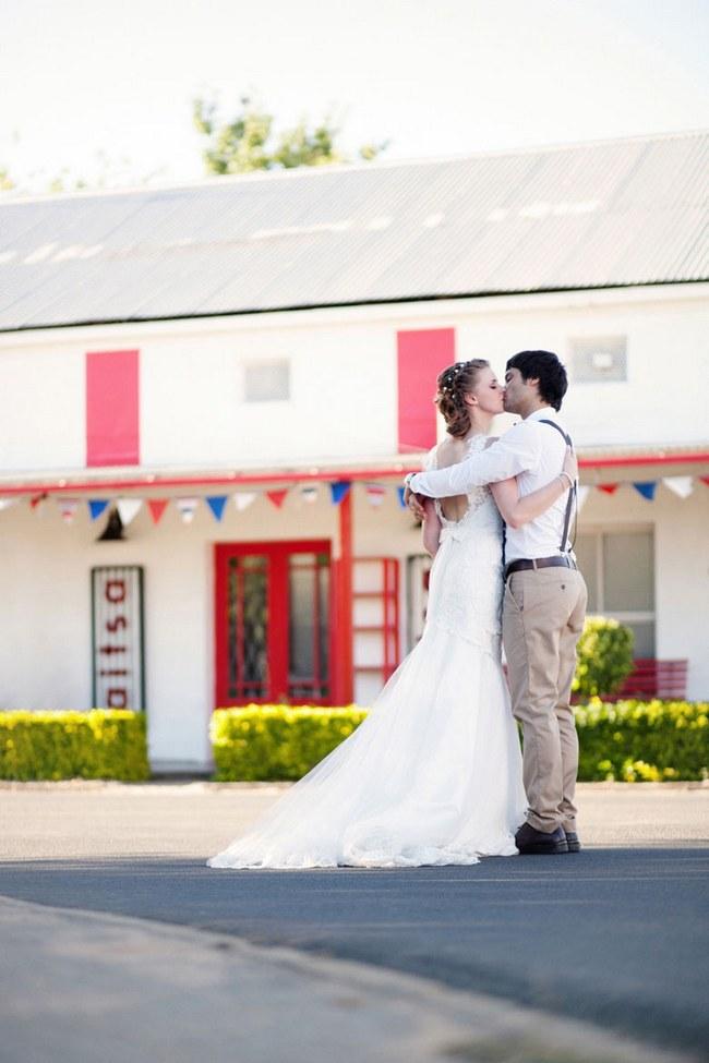 Aqua Blue Red Rustic Farm Wedding South Africa 016