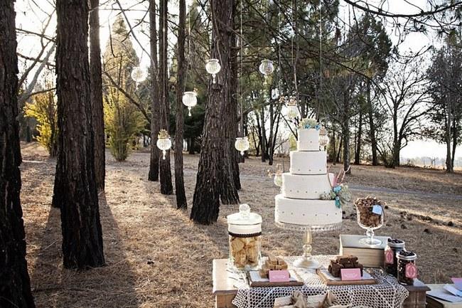 Aqua Coral Mauve Earthy Bohemian Forest Wedding 00015
