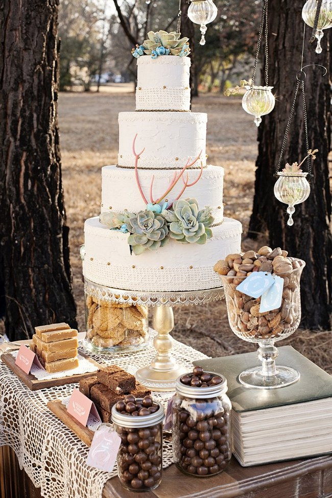 Succulent Wedding Cake :: Sweet As Images Photography :: Via ConfettiDaydreams.com