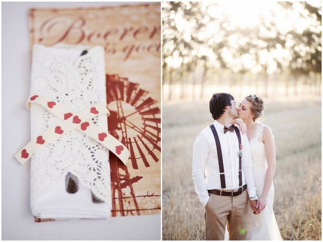 Aqua and Red Rustic Chic Farm Wedding {Moira West Photography}