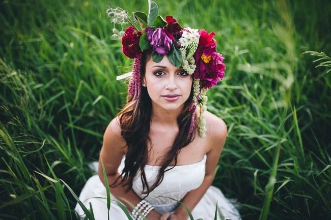 Flower Crowns Floral Wreath Bridal (7)