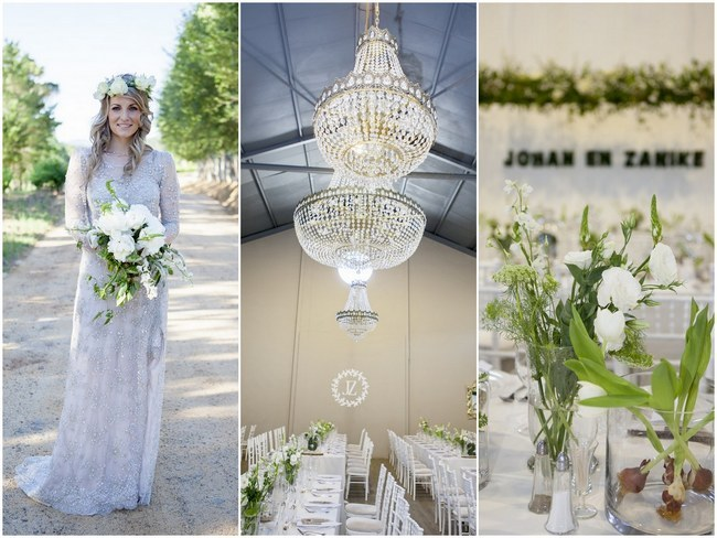 Gorgeous Green and White Botanical Wedding, South Africa {Marlize de Lange Photography}