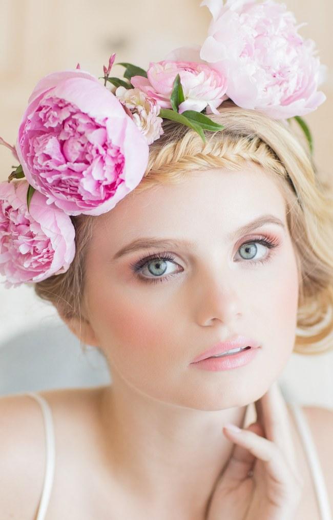 Pink Peony Flower Crown  (3)