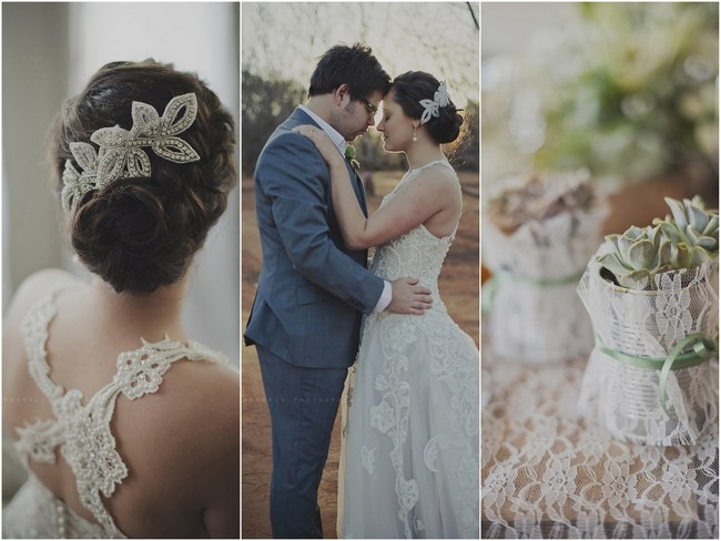 Powder Blue, Lace & Succulent Wedding, Nutcracker Country Retreat {Gingerale Photography}