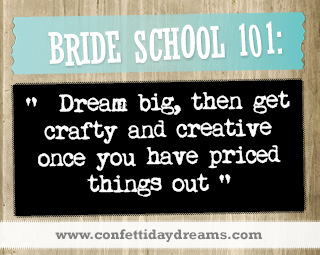 Real Bride Advice -  Get Crafty - Says Real Bride Whitney