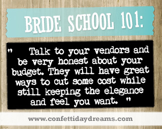 Real Bride Advice -  costs -  Whitney