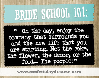 Real Bride Advice - enjoy the people-  Caitlin