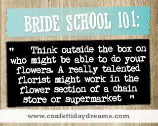 Real Bride Advice - florists -  Caitlin
