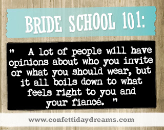 Real Bride Advice - guest list-  Mary