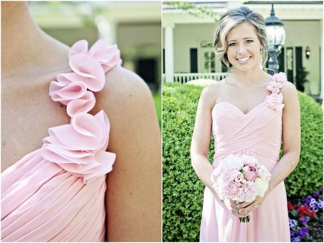Blush Spring Wedding Pretty Pink Flowers .3