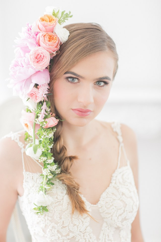 Cascading Floral Headpiece Flower Crown