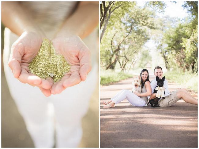 Melt-in-Your-Mouth-Cute Glitter & Puppies Engagement Shoot! {Genevieve Fundaro Photography}