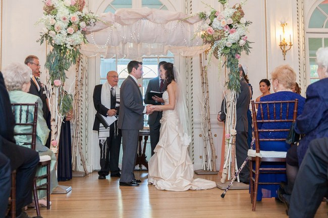 Pretty Peach and Blush Autum Wedding at the Tupper Manor by Kristen Jane Photography  11