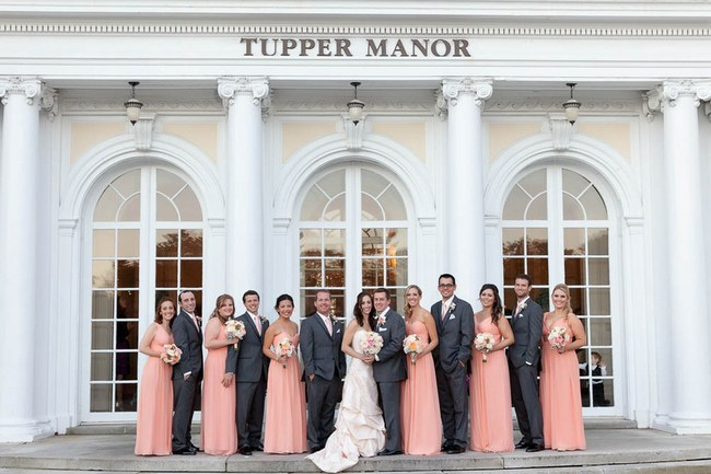Pretty Peach and Blush Autum Wedding at the Tupper Manor by Kristen Jane Photography 2