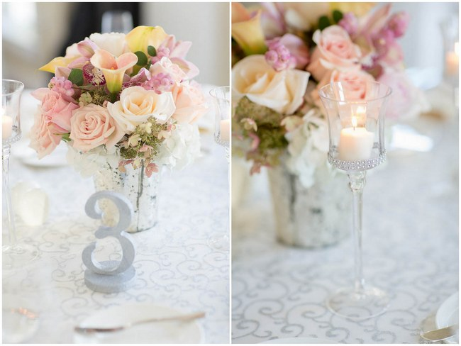 Gorgeous Floral Centerpiece  - Decor :: Peach and Blush Autumn Wedding at the Tupper Manor by Kristen Jane Photography | Seen first on ConfettiDaydreams.com