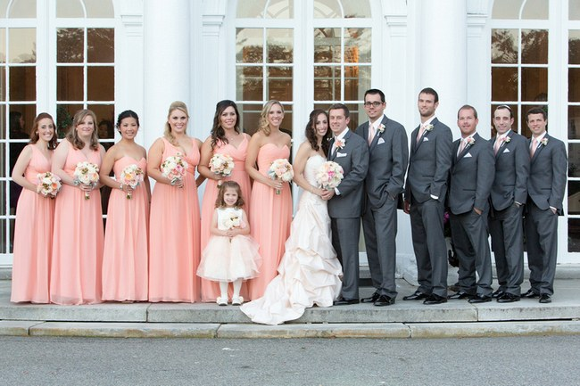 Pretty Peach and Blush Autum Wedding at the Tupper Manor by Kristen Jane Photography 30