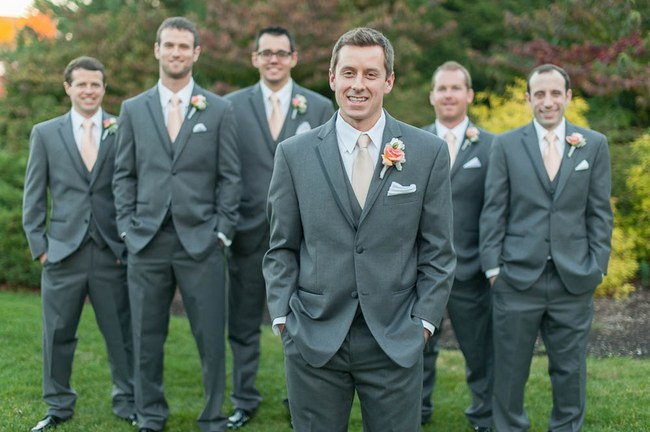 Pretty Peach and Blush Autum Wedding at the Tupper Manor by Kristen Jane Photography 4