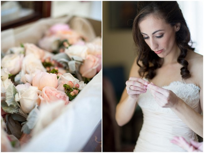 Pretty Peach and Blush Autumn Wedding at the Tupper Manor by Kristen Jane Photography | Seen first on ConfettiDaydreams.com