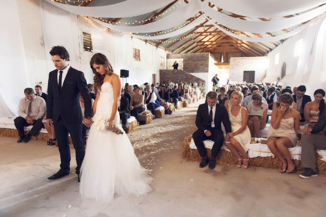 Gorgeous Rustic Cream and Gold Carnival Weddingr