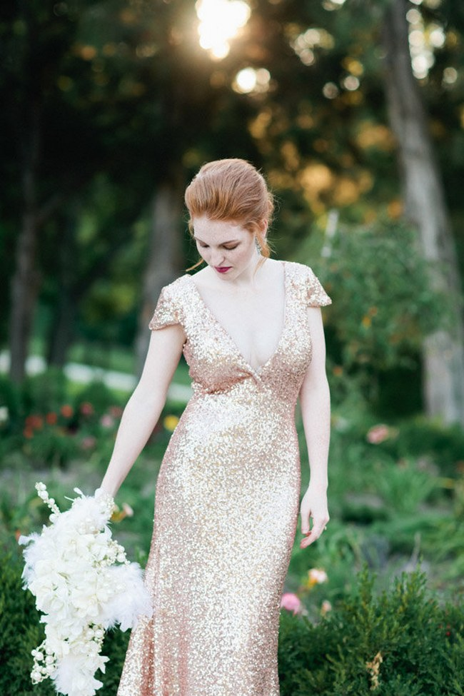 10 gorgeous sequin  glitter wedding gowns
