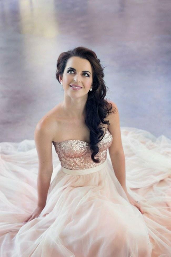 Sequin Glitter Wedding Dresses 2