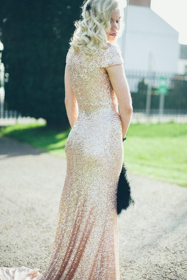 Sequin Glitter Wedding Dresses 8