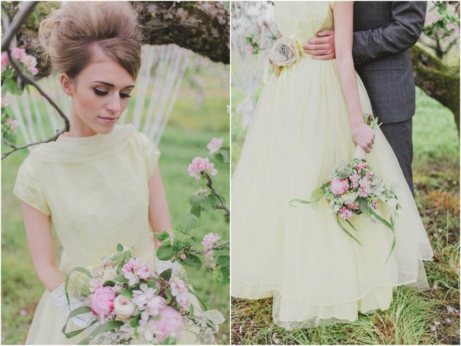 Cascade Bouquet // Blush and Sparkle Fifties Inspired Countryside Wedding in the Countryside // Kirsty-Lyn Jameson Photography  // Gibson Bespoke // ConfettiDaydreams.com Wedding Blog