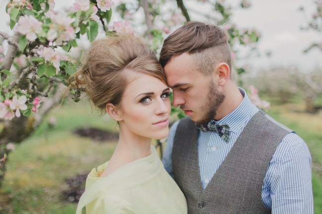 Blush & Sparkles: Fifties Inspired Countryside Wedding {Kirsty-Lyn Jameson Photography & Gibson Bespoke}