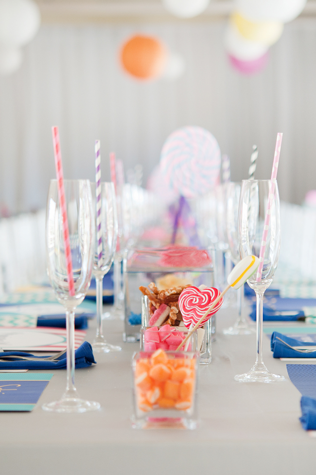 Candy Themed Rainbow Coloured Wedding 16