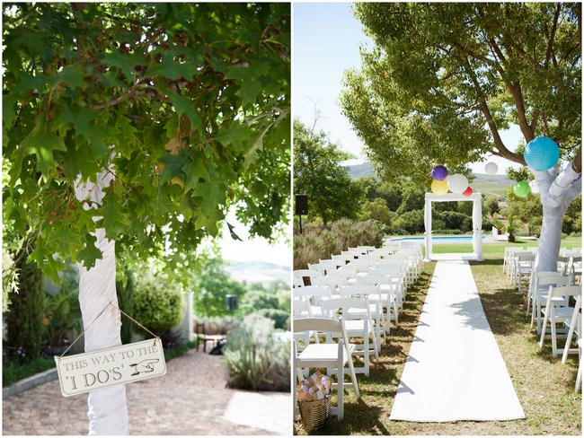Ceremony Decor Candy Themed, Rainbow Coloured, Crazy Cool Quirky Wedding // ST Photography // On www.ConfettiDaydreams.com