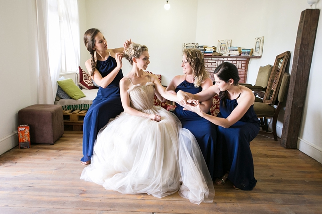 Photo Idea Navy Blue Bridesmaids :: Eco Friendly Outdoor Grabouw Wedding, Cape Town :: Ruby Jean Photography :: See more on Confetti Daydreams Wedding Blog