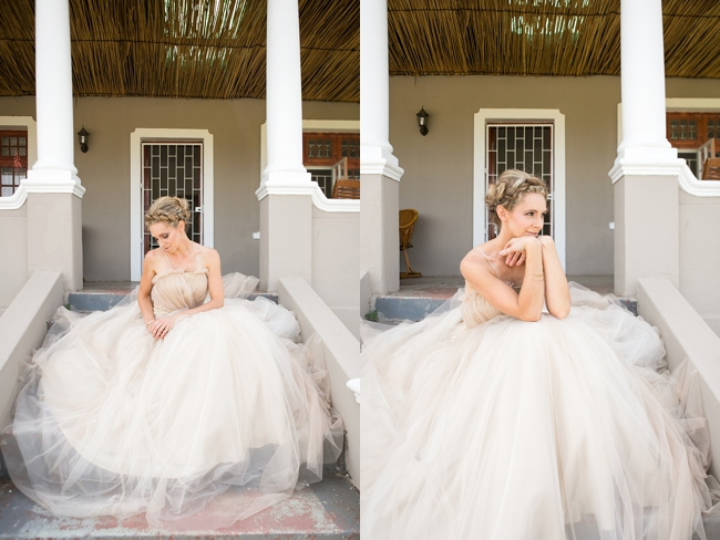 A Naturally Beautiful Bride in Tulle Wedding Dress  :: Eco Friendly Outdoor Grabouw Wedding, Cape Town :: Ruby Jean Photography :: See more on Confetti Daydreams Wedding Blog