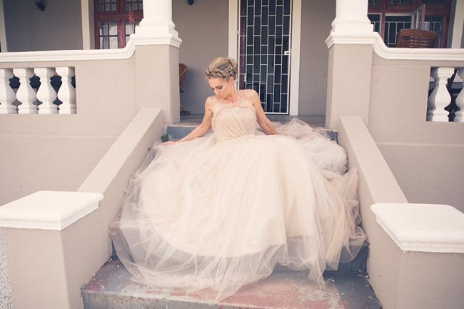 Tulle Wedding Dress Perfection :: Eco Friendly Outdoor Grabouw Wedding, Cape Town :: Ruby Jean Photography :: See more on Confetti Daydreams Wedding Blog