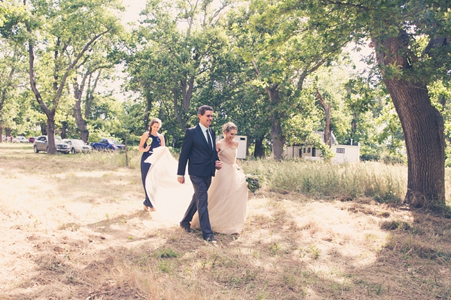Here Comes The Bride!  Gorgeous Eco Friendly Outdoor Forest Wedding ceremony :: Ruby Jean Photography :: See more on Confetti Daydreams Wedding Blog