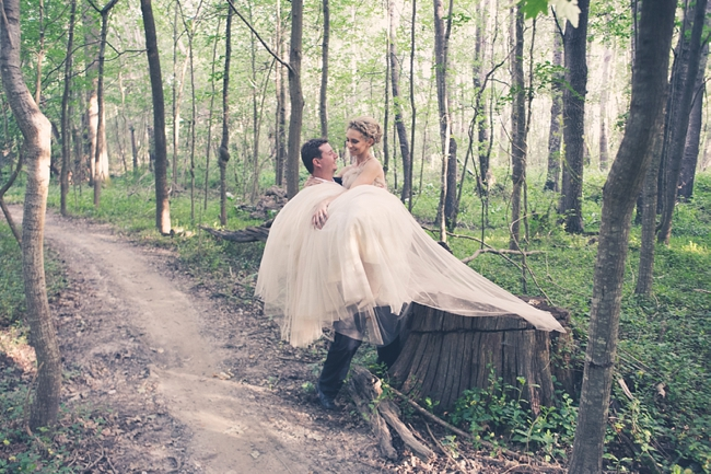 Backyard Forest Wedding : Romantic Couple Portaits Outdoor Forest Wedding  Ruby Jean