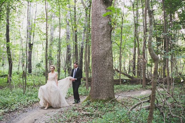 Romantic Couple Portaits  Outdoor Forest Wedding :: Ruby Jean Photography :: See more on Confetti Daydreams Wedding Blog