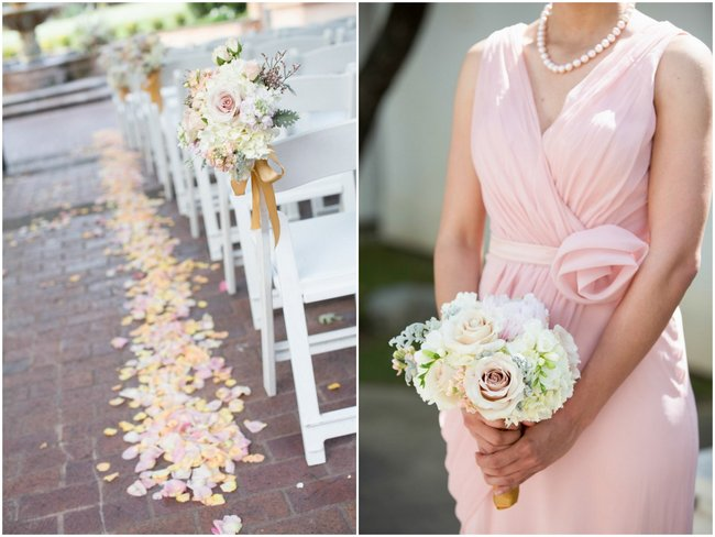 Outdoor San Antonio Wedding Ceremony :: Elegant blush and gold Summer Wedding //  Miranda Laine Photography // ConfettiDaydreams.com Wedding Blog