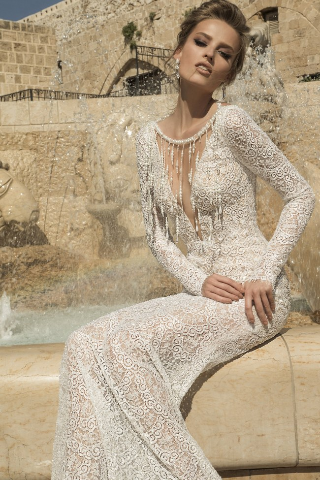 Galia Lahav Wedding Dress - Veneto Gown   -Backless, Long Sleeved Gown  (1)