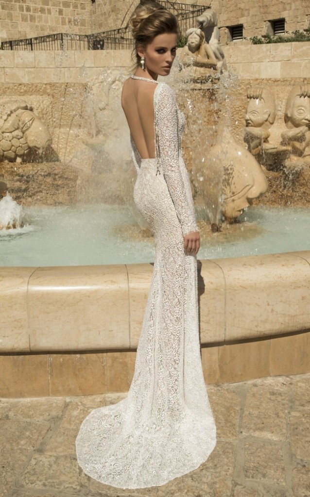Galia Lahav Wedding Dress - Veneto Gown   -Backless, Long Sleeved Gown  (2)