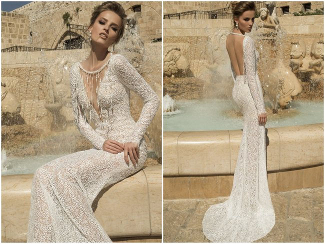 Galia Lahav Wedding Dress - Veneto Gown   -Backless, Long Sleeved Gown
