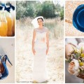 Navy Blue Peach Vintage Wedding Inspiration and Ideas