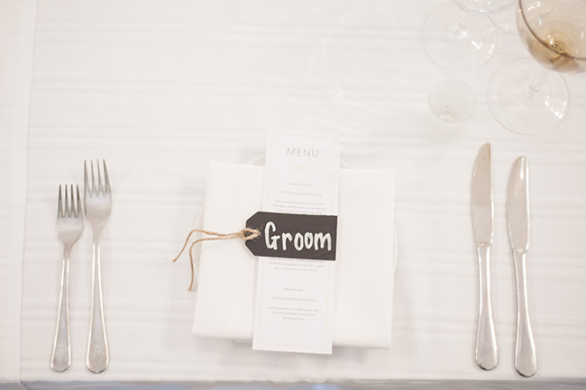 Menu & Chalkboard Details :; Pale Yellow, White & Coral Winelands Destination Wedding (South Africa) :: Joanne Markland Photography :: ConfettiDaydreams.com Wedding Blog