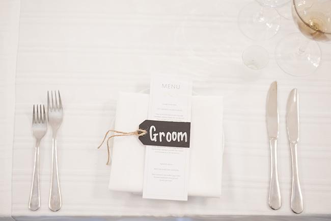 Menu & Chalkboard Details :; Pale Yellow, White & Coral Winelands Destination Wedding (South Africa) :: Joanne Markland Photography :: ConfettiDaydreams.com Wedding Blog