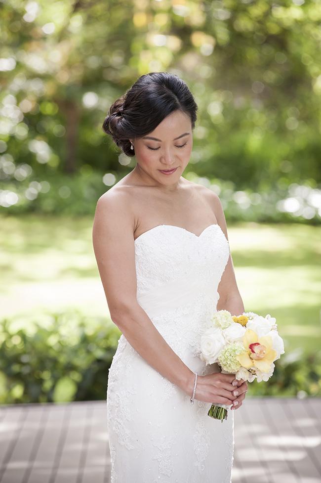 Bridal Portrait Pale Yellow, White & Coral Winelands Destination Wedding (South Africa) :: Joanne Markland Photography :: ConfettiDaydreams.com Wedding Blog