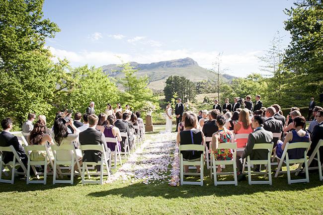 Molenvliet Wedding Ceremony :: Pale Yellow, White & Coral Winelands Destination Wedding (South Africa) :: Joanne Markland Photography :: ConfettiDaydreams.com Wedding Blog