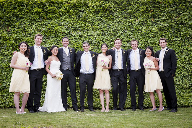 bridal Party Portraits :: Pale Yellow, White & Coral Winelands Destination Wedding (South Africa) :: Joanne Markland Photography :: ConfettiDaydreams.com Wedding Blog
