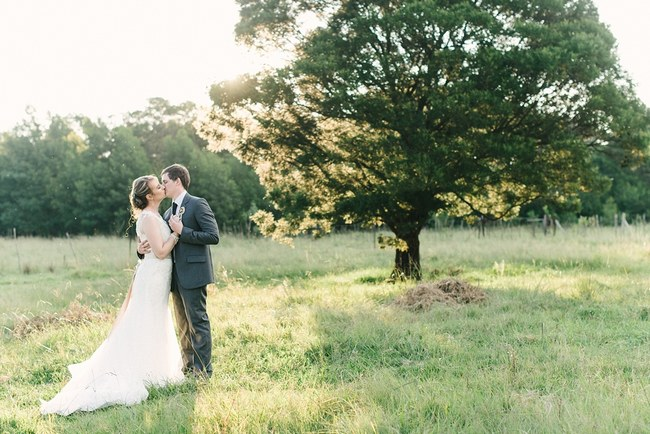 Dreamy Couple Wedding Portraits :: Pretty paper Flower, Rustic Blush Farm Wedding :: South Africa :: Louise Vorster Photography :: Seen on ConfettiDaydreams.com
