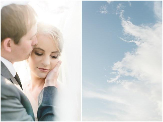 Dreamy Couple Wedding Portraits :: Pretty paper Flower, Rustic Blush Farm Wedding :: South Africa :: Louise Vorster Photography :: Seen on ConfettiDaydreams.com