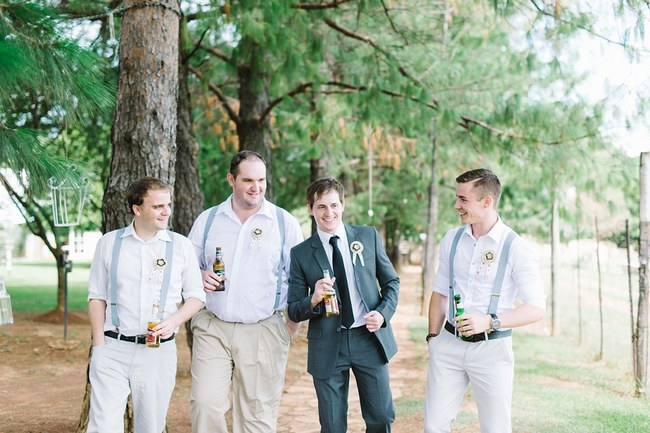 Groomsmen  :: Pretty paper Flower, Rustic Blush Farm Wedding :: South Africa :: Louise Vorster Photography :: Seen on ConfettiDaydreams.com