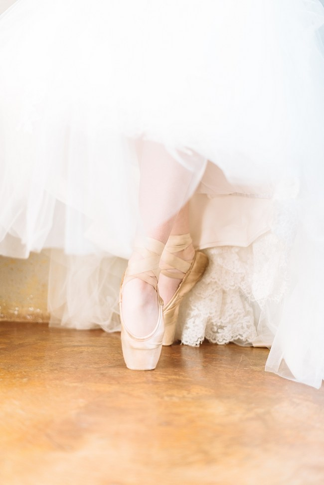 Ballet Shoes ::  :: Pretty paper Flower, Rustic Blush Farm Wedding :: South Africa :: Louise Vorster Photography :: Seen on ConfettiDaydreams.com